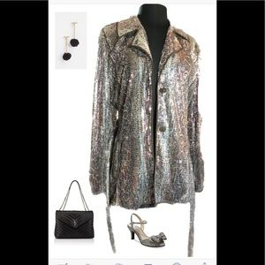 Chico's Sequin Jacket - size 2